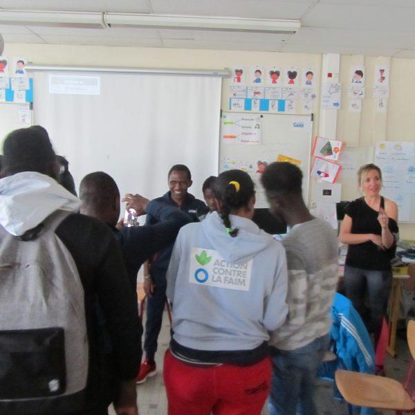 Jean Habarurema témoigne auprès de lycéens à Angers